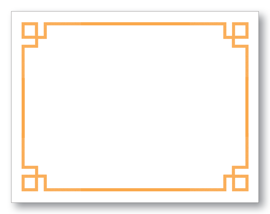 Greek Key Border Orange