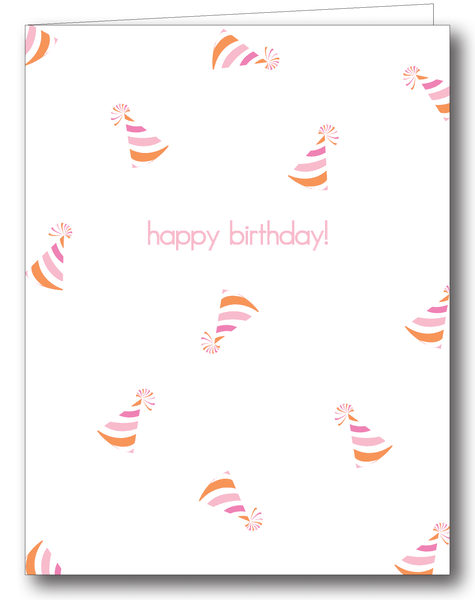 Party Hats (Pink); Happy Birthday! - Psalms 118:24