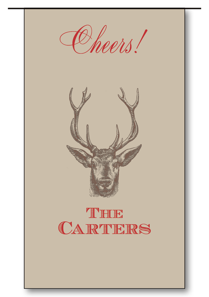 Stag Cheers - Scarlet (Customizable)