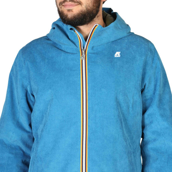 K-Way Blue Line padded slim jacket - blue striped