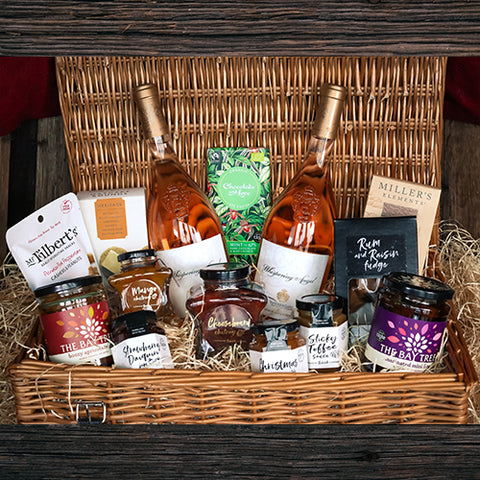 Whispering Angel Rose Wine Wicker Hamper