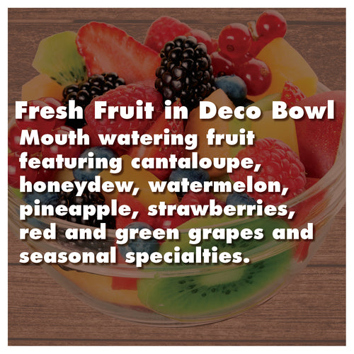 Fresh Fruit in Deco Bowl