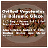Grilled Vegetables in Balsamic Glaze