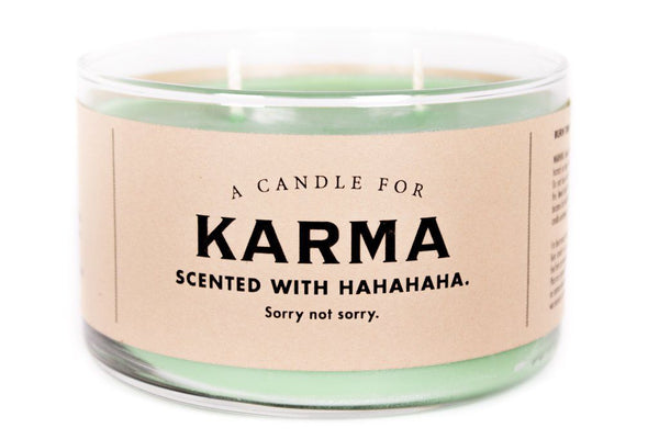 A candle for Karma