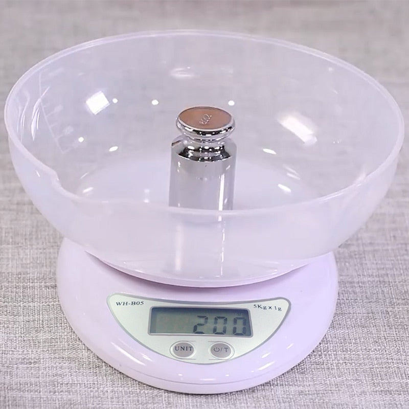 Portable Digital Electronic Food  Scale for Kitchen 5kg/1g