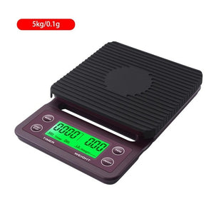 Coffee Electronic Scales Weighing Band Timing 3kg/0.1g 5kg/0.1g