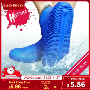 waterproof Reusable Silicone Shoe Cover S / M / L D