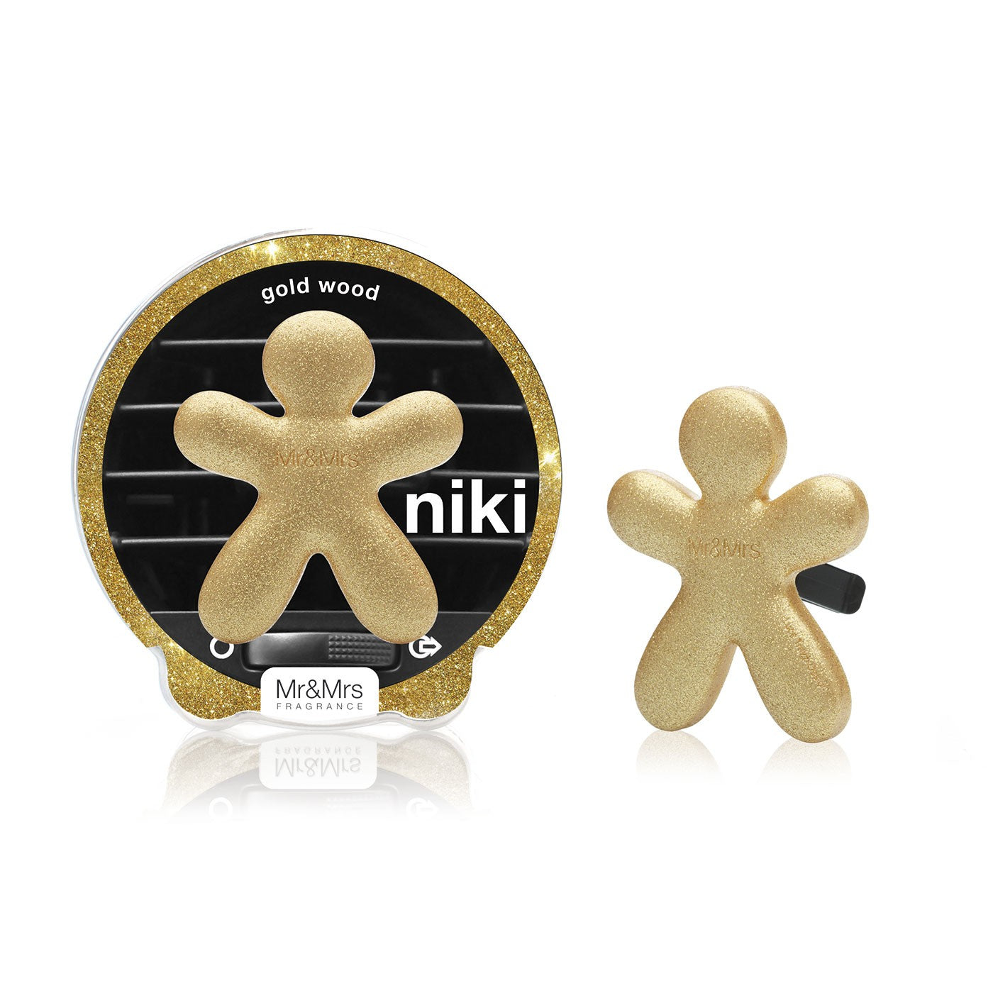 Niki (Glitter gold - gold wood)