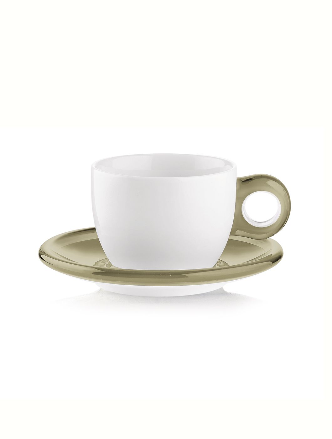 Set of 2 cappuccino cups with saucers Gocce
