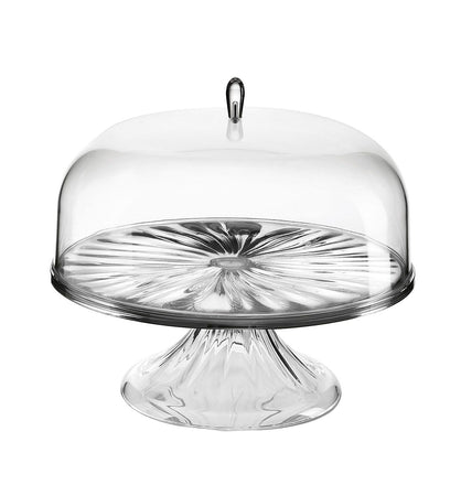 M Cake Stand With Dome 27 cm Look