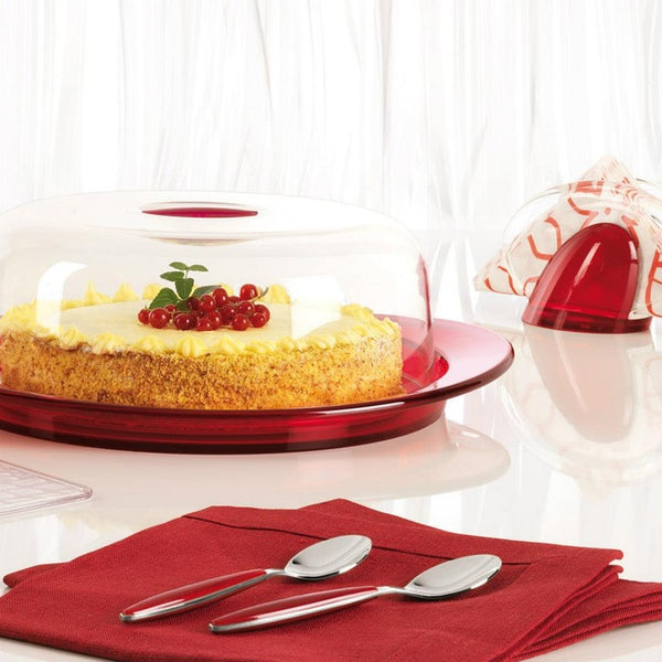 Cake serving set: cake dish, dome and cake slice Feeling