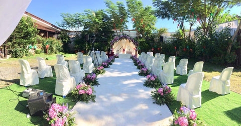 intimate garden wedding ceremony