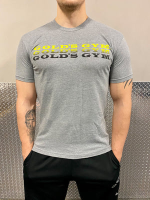 Gold's Gym Unisex Light Grey Cotton T-Shirt