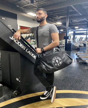 Gold's Gym Black Durable Woven Fitness Sports Bag - Front Facing Image