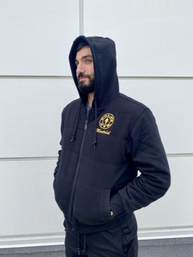 Gold's Gym Classic Black Full Zip Hoodie - Side View