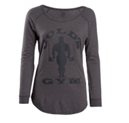 Gold's Gym Women's Grey Long-Sleeve Cotton Tunic - Front Facing Image
