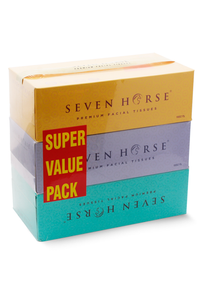 Seven Horse Premium Facial Tissue 3 colors