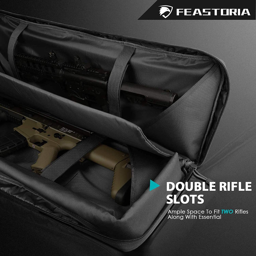 Feastoria Double Long Soft Rifle Case