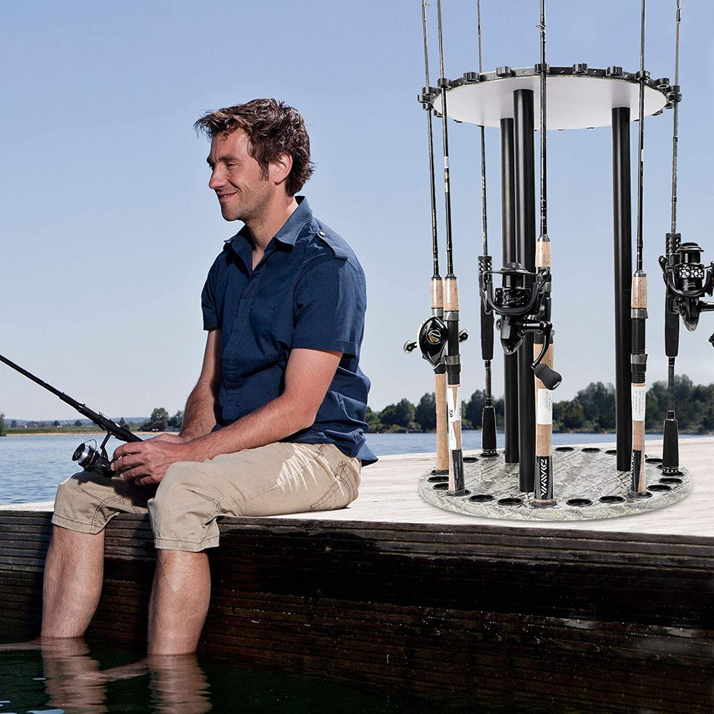 LUXHMOX Fishing Holder Stand Holds up to 24 Rod