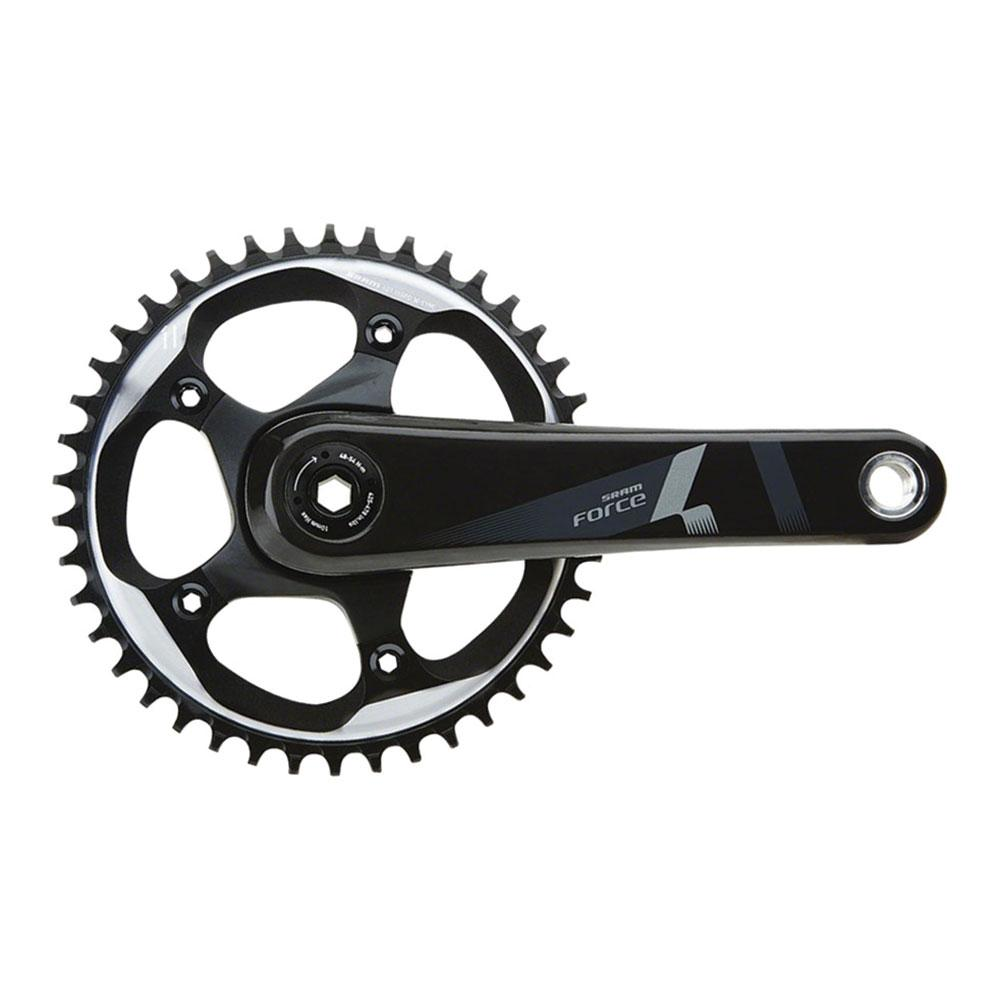 SRAM Force 1 Crankset - 175mm, 10/11-Speed, 42t, 110 BCD, BB30/PF30 Spindle Interface, Black