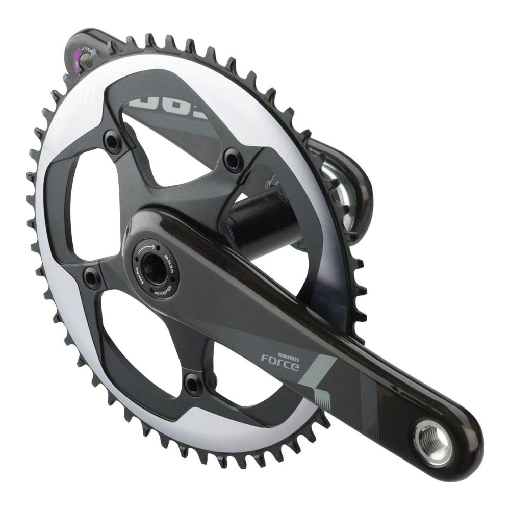 SRAM Force 1 Crankset - 172.5mm, 10/11-Speed, 52t, 130 BCD, GXP Spindle Interface, Black