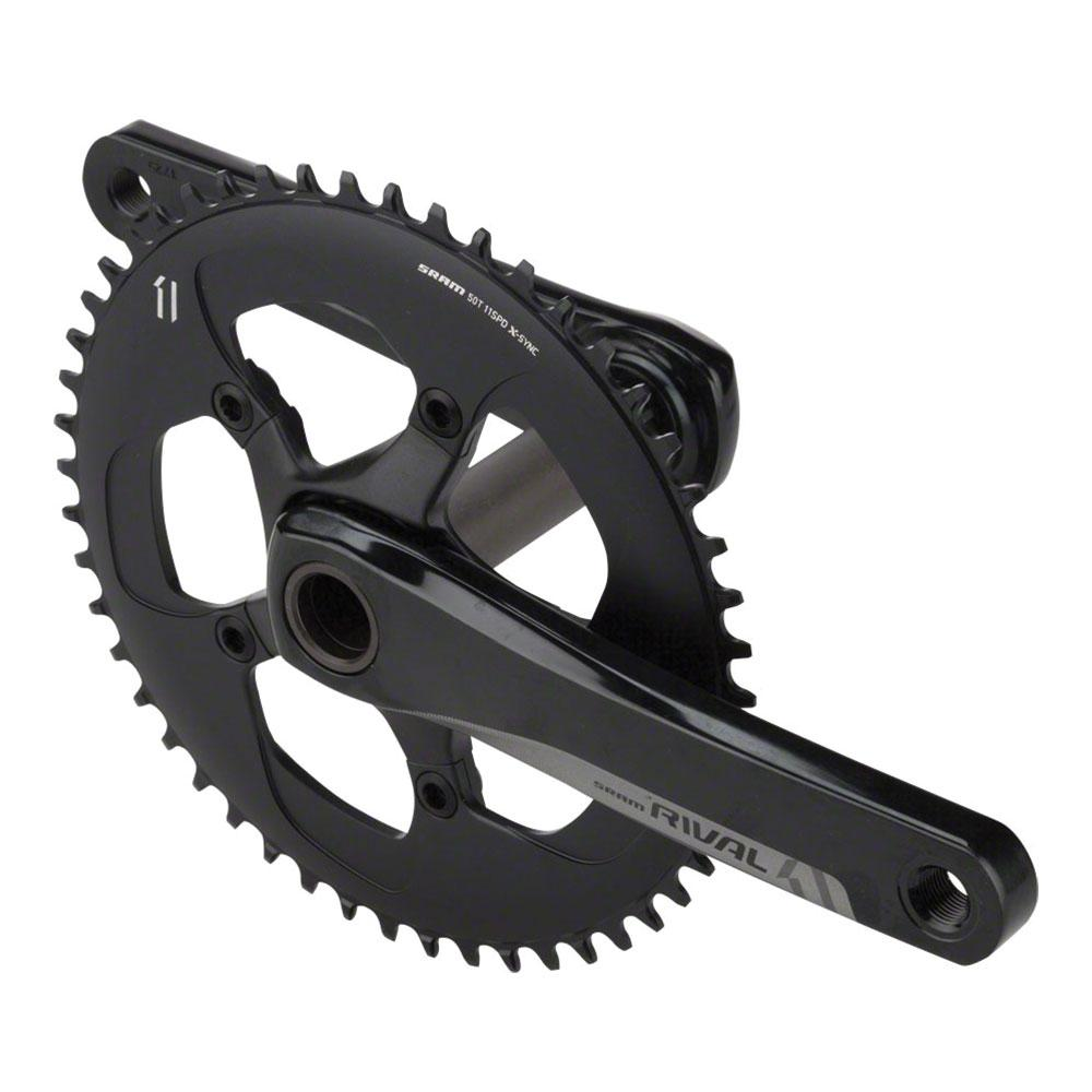 SRAM Rival 1 Crankset - 175mm, 10/11-Speed, 50t, 110 BCD, GXP Spindle Interface, Black