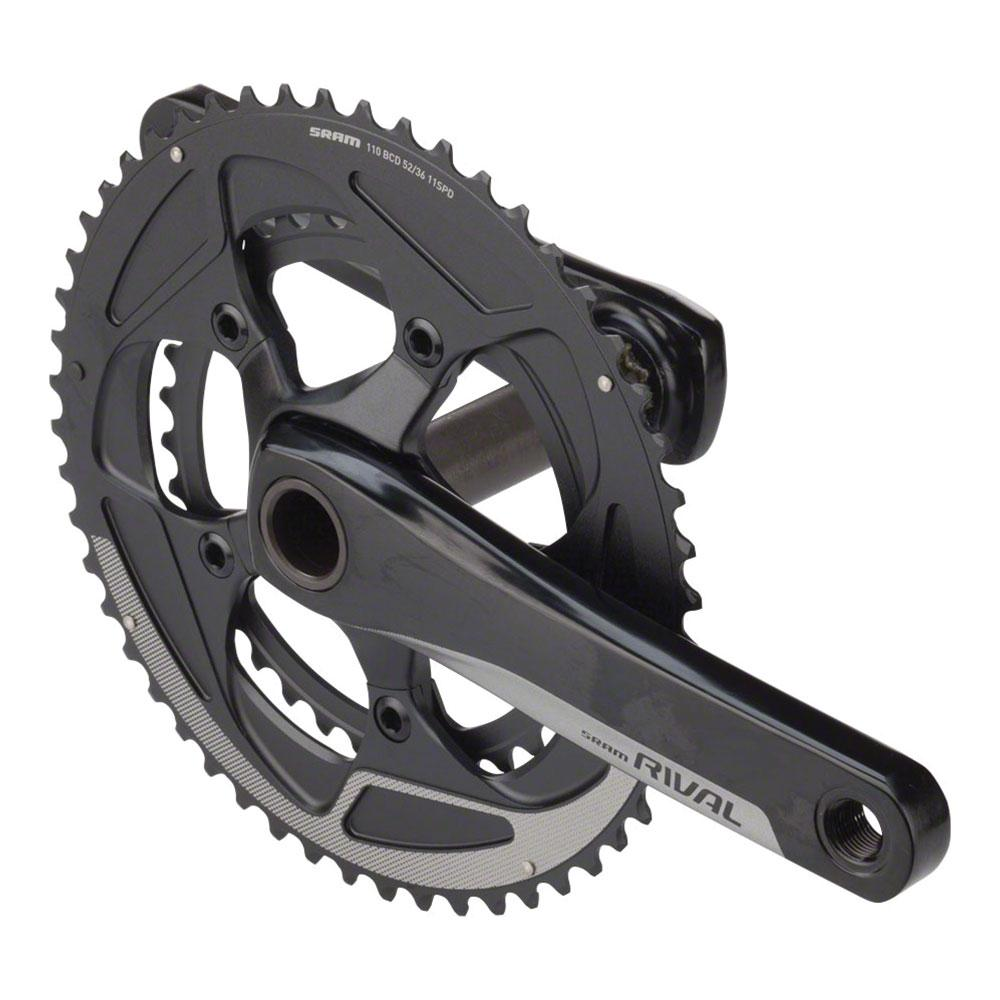SRAM Rival 22 Crankset - 170mm, 11-Speed, 50/34t, 110 BCD, BB30/PF30 Spindle Interface, Black
