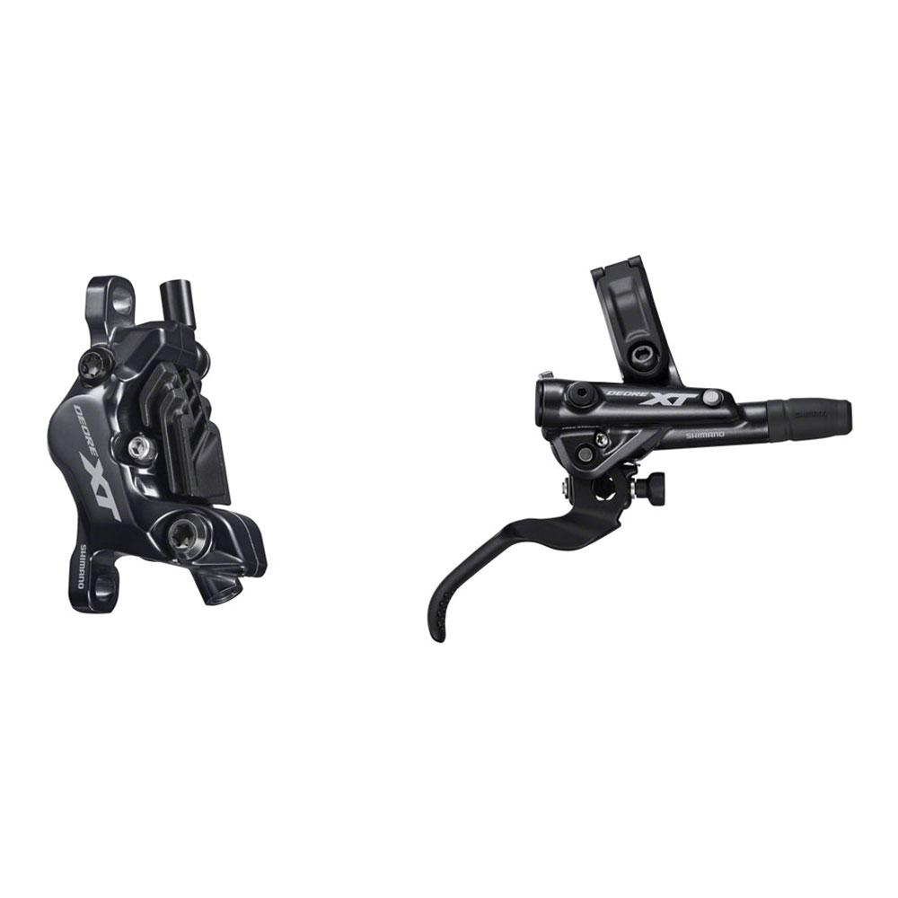 Shimano Deore XT BR-M8100 Disc Brake and Lever - Hydraulic, Post Mount, 4-Piston, Finned Metal Pads, Black