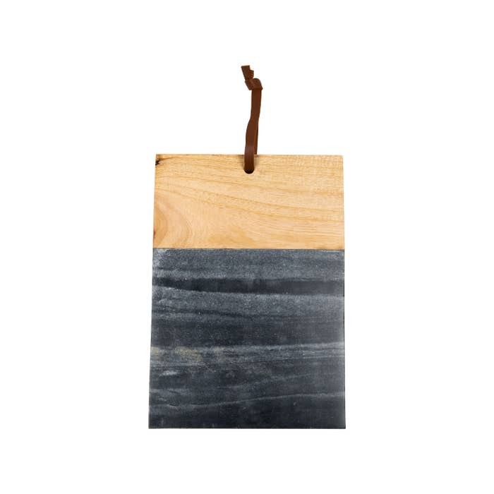 Large Black Marble Wood Square Cutting Board-Maison Collective