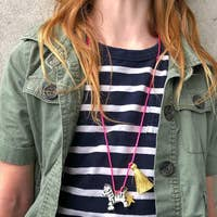 Load image into Gallery viewer, Zoe the Zebra Necklace