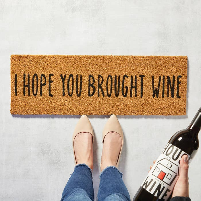 Hope You Brought Wine Door Mat-Maison Collective