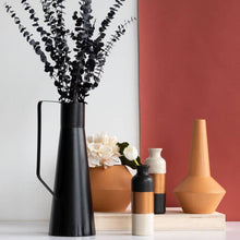 Load image into Gallery viewer, Wide Metal Terracotta Vase-Maison Collective