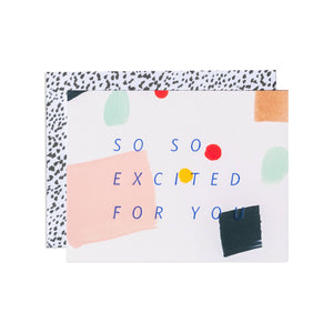 So So Excited Confetti Greeting Card - Boxed Set
