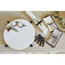 Load image into Gallery viewer, Leather Napkin Ring Set: Black