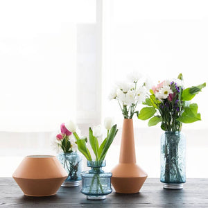 Wide Metal Terracotta Vase-Maison Collective