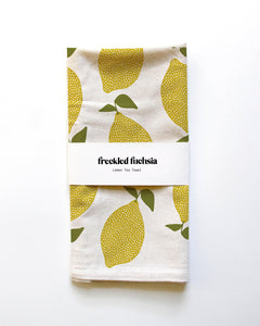 Winter Lemon Tea Towel
