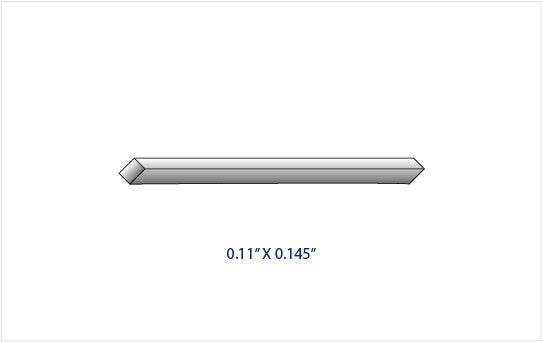 "0.110"" x 0.145"" GRADE 2 TITANIUM RECTANGULAR ROD (36"" LENGTH)"