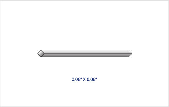 "0.060"" x 0.060"" GRADE 2 TITANIUM SQUARE ROD (36"" LENGTH)"