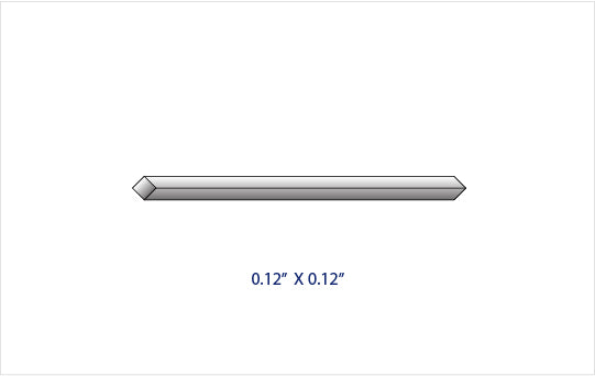 "0.120"" x 0.120"" GRADE 2 TITANIUM SQUARE ROD (36"" LENGTH)"