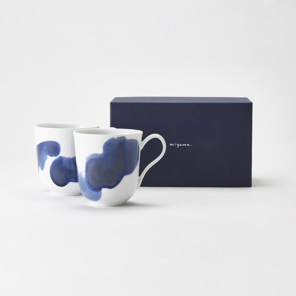 Plue Mug Pair (Ink Blue)