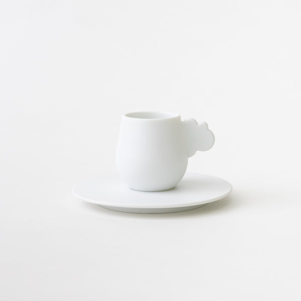 Cloud Espresso Cup & Saucer (White)