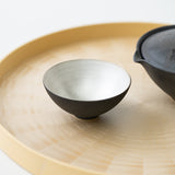 Black Glaze-Inner Ginsai Sake/Tea Cup (Deep)