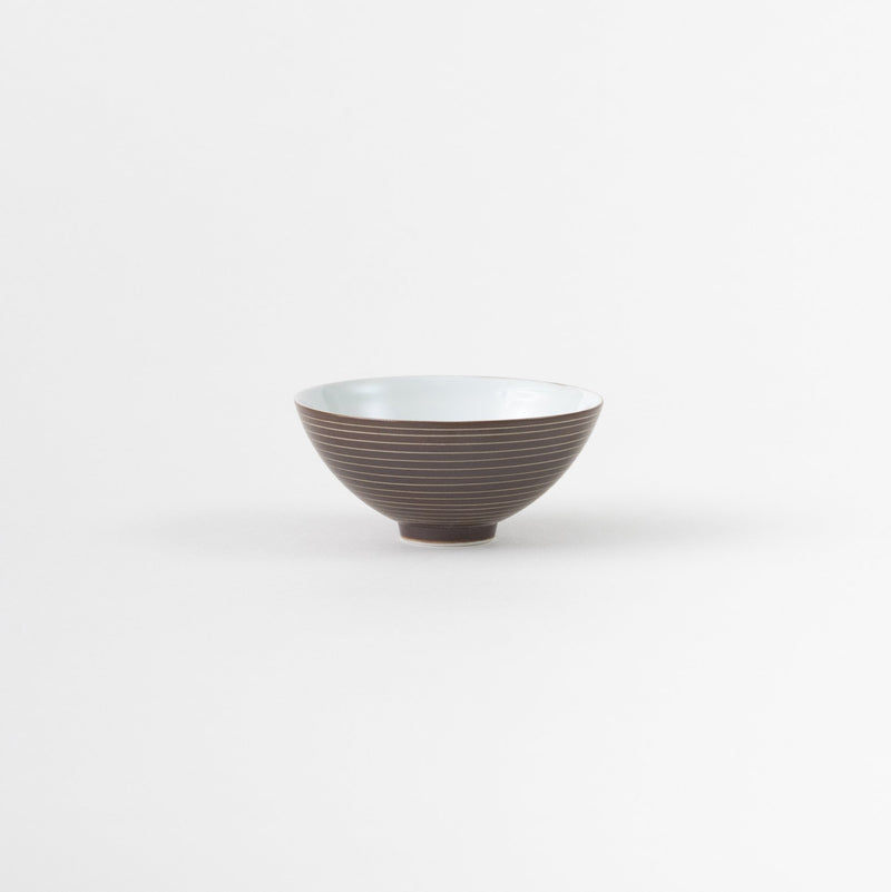 Rusty Lined Sake/Tea Cup (Deep)