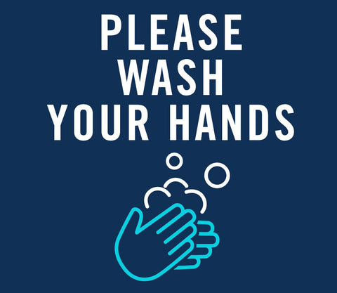 Covid signs and stickers Please Wash Your Hands