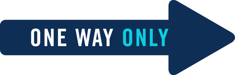 Covid signs and stickers One Way Only Directional Arrow
