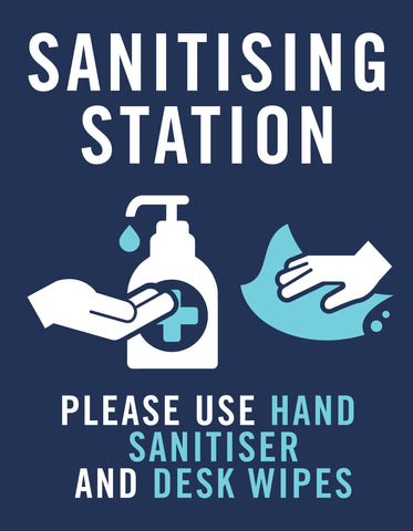 Sanitising Station Covid Signs