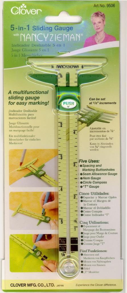 5 in 1 Sliding Gauge by Nancy's Notions and Clover