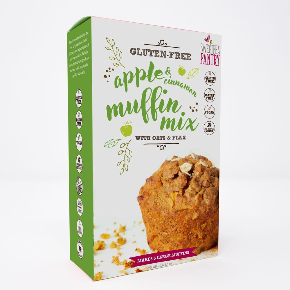 NEW! Apple and Cinnamon Muffin Mix with oats and flax (gluten-free) Sweetpea Pantry