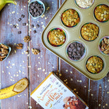 NEW! Banana and Chocolate Chip Muffin Mix with oats and flax (gluten-free) Sweetpea Pantry