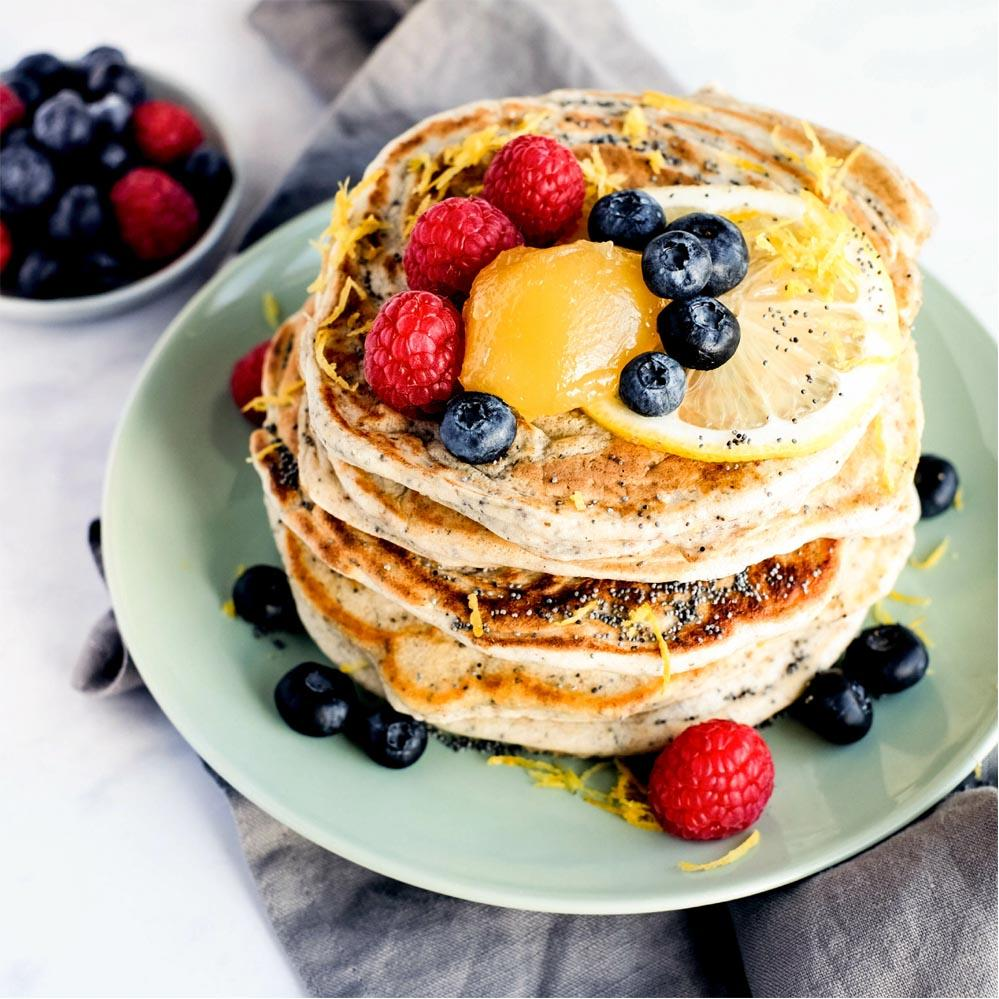 NEW! Stacks of Goodness Vanilla & Blueberry Protein Pancake Mix 200g Sweetpea Pantry